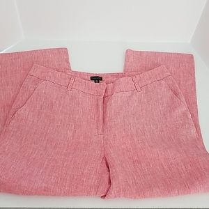 100% linen Madison Capri pants 8